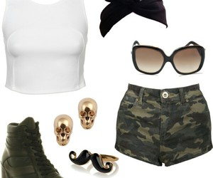 black, fashionable, and green image
