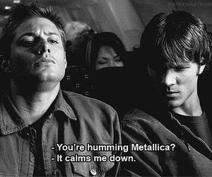 supernatural, metallica, and dean winchester image