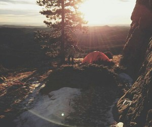 nature, sun, and camping image