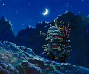 howl's moving castle, anime, and movie image