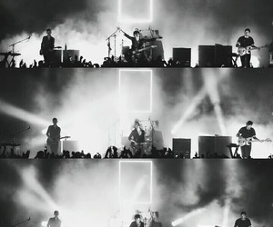 alternative, black and white, and concert image