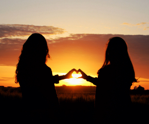 friend, night, and love image