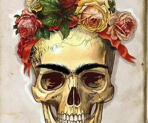 skull, frida kahlo, and Frida image