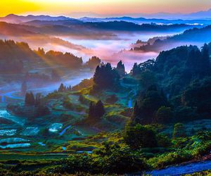 japan, landscape, and mountains image