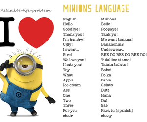 minions and language image