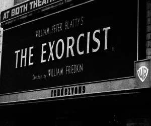 the exorcist, black and white, and movie image