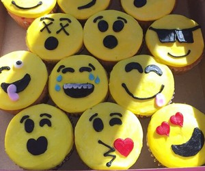 cake, cup cake, and smile image