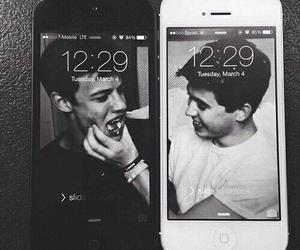black and white, nash grier, and magcon image