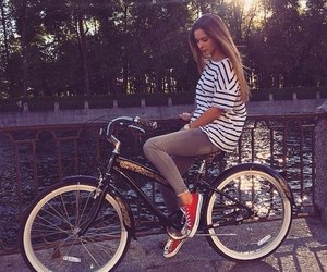 beautiful, bicycle, and body image