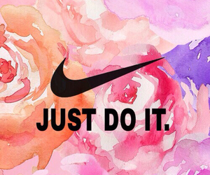 girl, Just Do It, and nike image