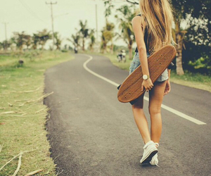 girl, summer, and road image
