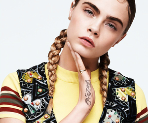 cara delevingne, model, and braid image