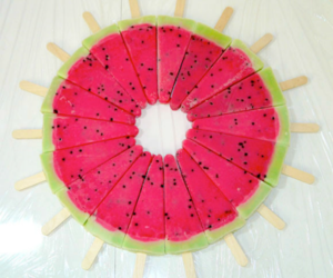 ice, watermelon, and tummbler image