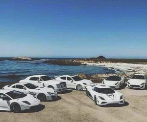 ferrari, Lamborghini, and sea image