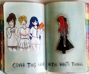 black and white, wreck this journal, and WTJ image
