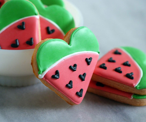 heart and watermelon image