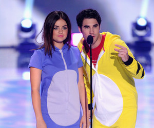 lucy hale, glee, and darren criss image