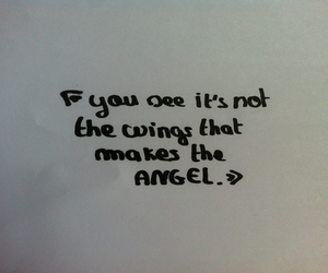 angel, quote, and wings image