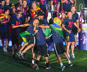 Barcelona, fcb, and champions 2015 image