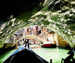 boat, river, and veneza image