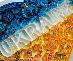 blue, Украина, and yellow image