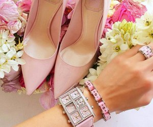 shoes, pink, and dior image