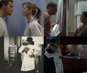ellen pompeo, justin chambers, and meredith image