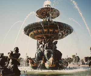 fountain, water, and paris image