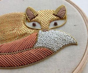 fox and embroidery image
