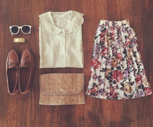 fashion, outfit, and vintage image
