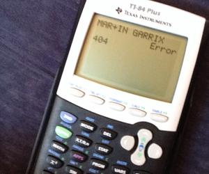 calculator, dj, and exam image