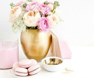 flowers, pink, and sweets image