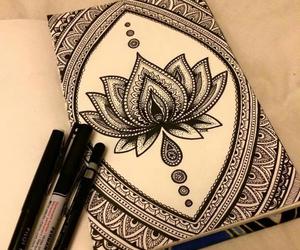flower, lotus, and mandala image