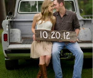 boots, country, and save the date image