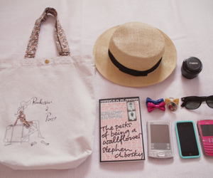 bag, hat, and pink image