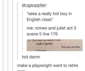 funny, tumblr, and juliet image