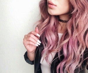hair, pink, and nails image