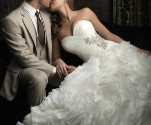 wedding, dress, and gif image