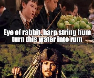 harry potter, rum, and funny image