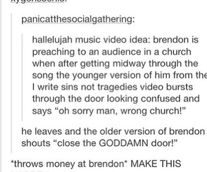 brendon urie, funny, and hallelujah image
