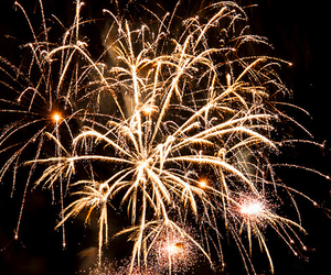 fireworks, gold, and light image