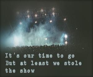 Lyrics, music, and show image