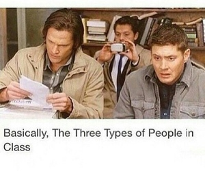 funny, supernatural, and school image