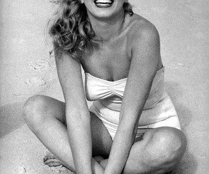 beach, blonde, and laughing image