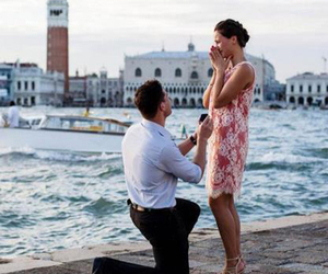 love, couple, and venice image