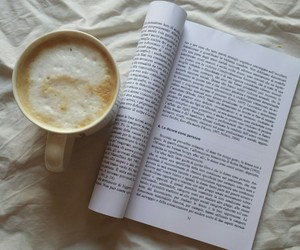 book and cappuccino image