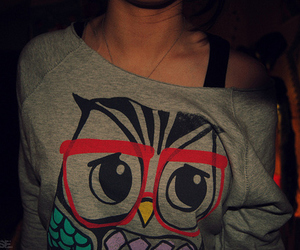 girl, owl, and photography image