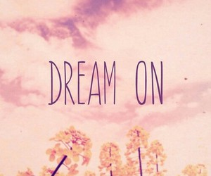 Dream, on, and pink image