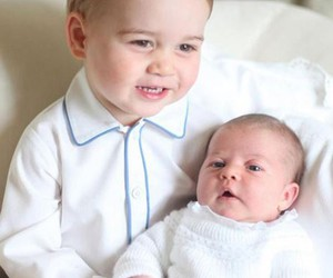 princess charlotte, prince george, and princess image