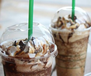 starbucks, chocolate, and drink image